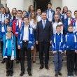 Spotkanie Prezydenta RP Andrzeja Dudy z Salezjańską Organizacją Sportową w Belwederze z okazji, 25 istnienia SALOS RP.
