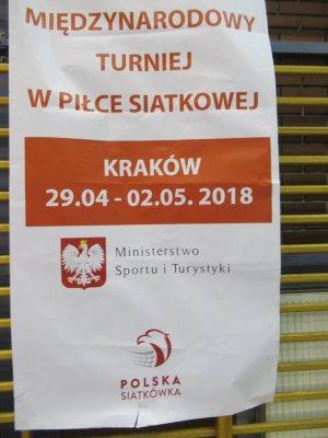 MIĘDZYNARODOWY TURNIEJ W PIŁKĘ SIATKOWĄ  Kraków, 29.04 – 2.05.2018