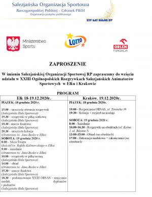 XXIII Ogólnopolskie Rozgrywki Salezjańskich Aniamatorów Sportowych Kraków/Elk